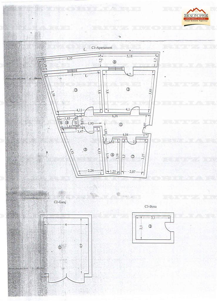 NOU! Ap. 3 cam., Et.1, S=82 mp, cu GARAJ si BOXA, zona Cornisei !